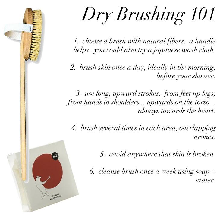 brush your skin