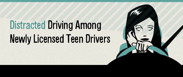 Infograhic Distracted Driving Among Newly Licensed Teen