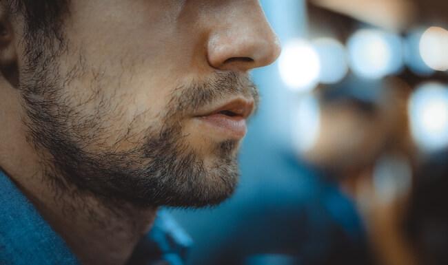 a man with facial hair