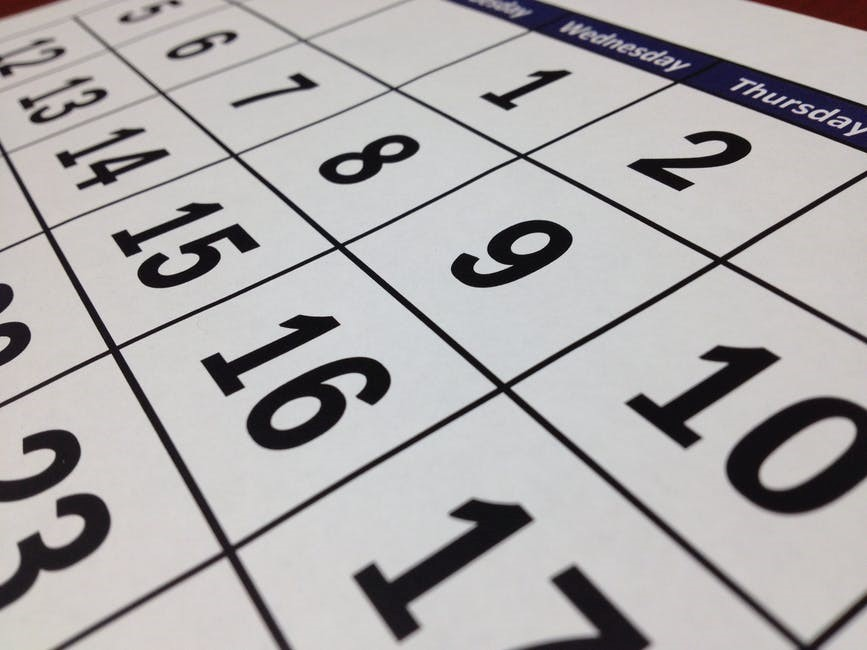 Make a Regular Schedule