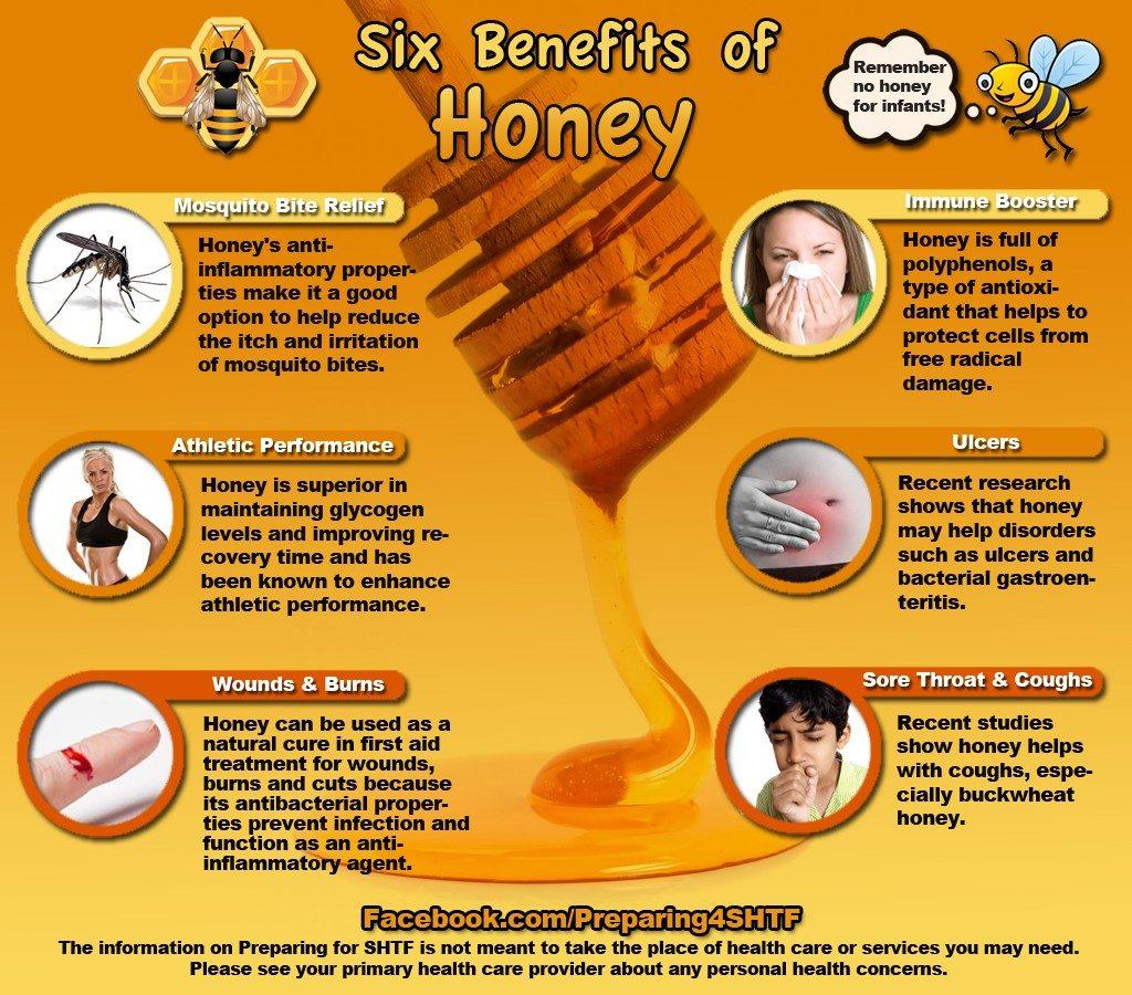 six benefits of honey