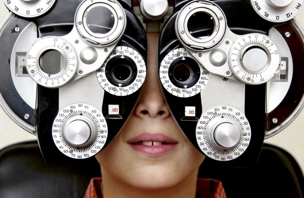 Eye Exams of Boy