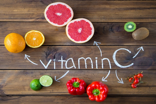 Vitamin C In Fruits And Vegetables. Natural Products Rich In Vit