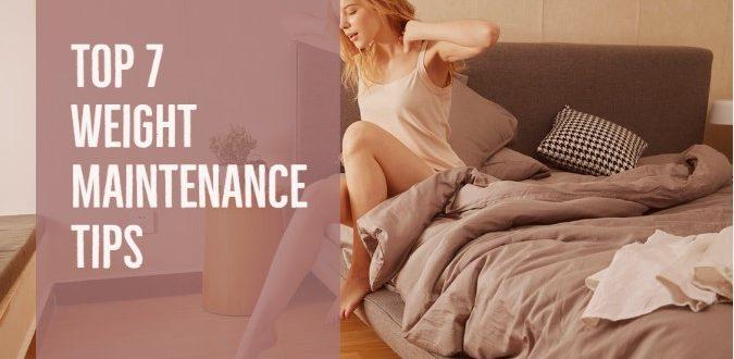 Weight Maintenance Tips