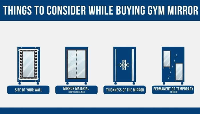 Factors to consider before picking a gym mirror