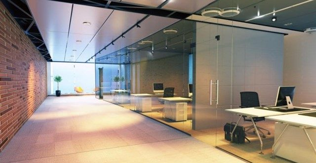 Add a Translucent Glass Door for a Refreshing Change in Your Office