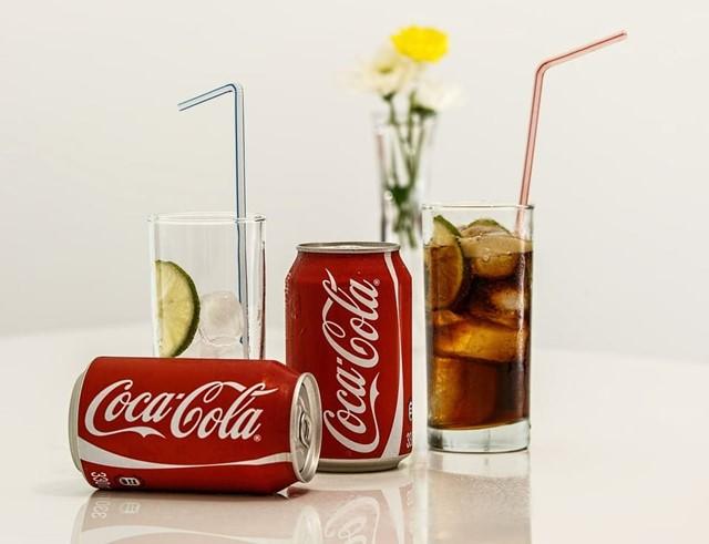 glasses of coca cola