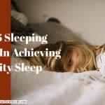 Top 5 Sleeping Tips In Achieving Quality Sleep