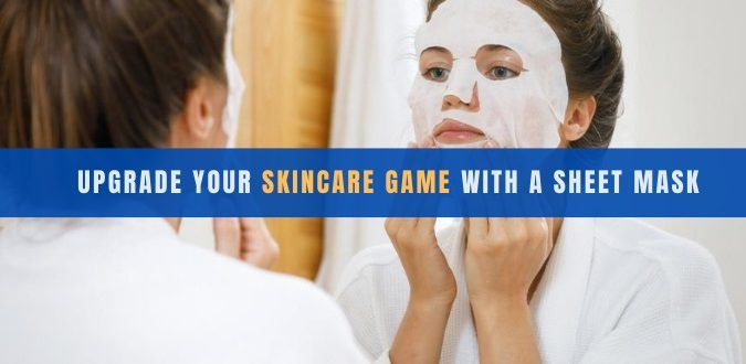 Skincare Game with a Sheet Mask