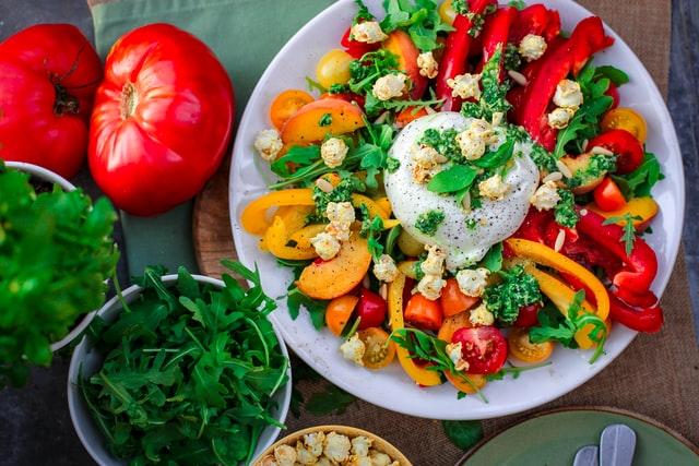 Enjoy fruits and vegetables